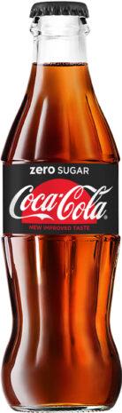 Coca-Cola Zero Sugar contour lasipullo 0,25l