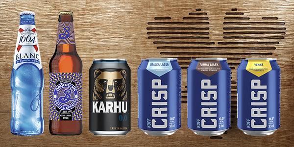 Alkoholittoman oluen valikoima kasvaa trendin mukana