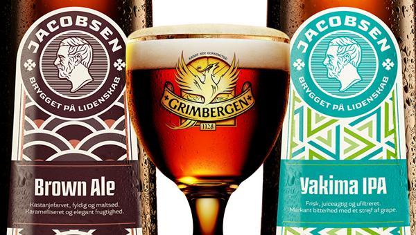 Kaksi Jacobsen-olutta ja Grimbergen Double-Ambreé Sinebrychoffin kausihanavalikoimaan